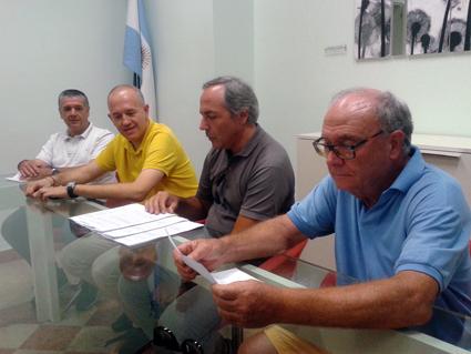 da sinistra Claudio Morresi, Fabrizio Ciarapica, Giovanni Corallini e Sergio Marzetti