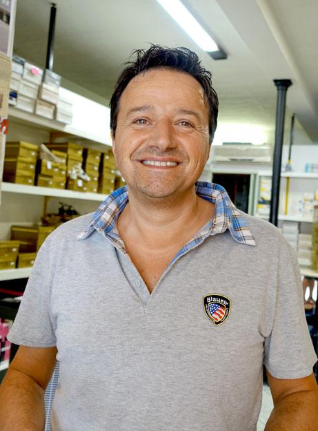 Riccardo Compagnucci proprietario di Calzature Gabriele