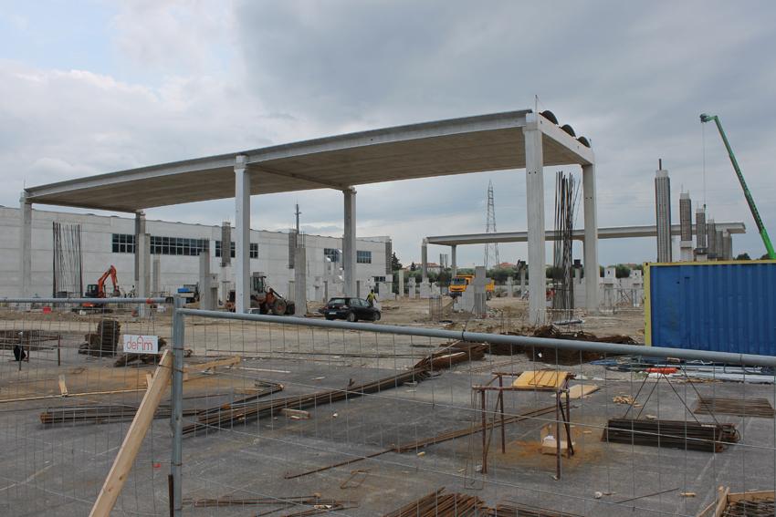 I lavori per la realizzazione del palas a Civitanova