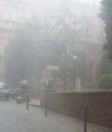 Una forte pioggia a Macerata