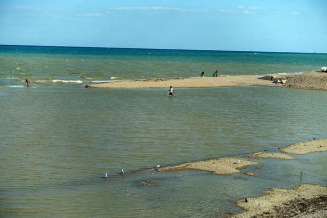 La situazione dell'acqua oggi pomeriggio (foto di Guido Picchio)
