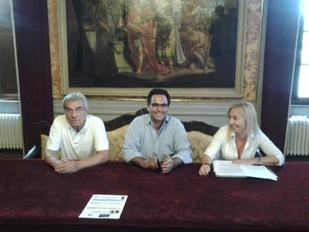 da sinistra Giovanni Bizzarri, Francesco Peroni e Camilla Bellavita Mussio