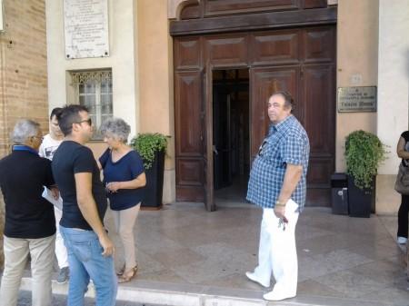 La delegazione di commercianti al dettaglio di prodotti ittici riuniti questa mattina a Palazzo Sforza