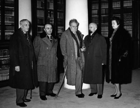 Amedeo Ricci con Ezra Pound e Tullio Colsalvatico
