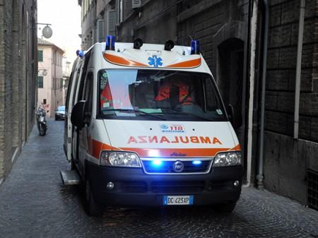 L'intervento di un'ambulanza