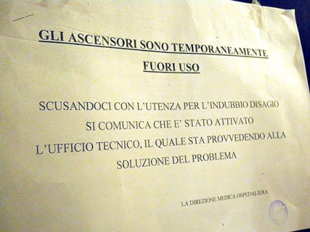 Ascensori non funzionanti Ospedale Macerata (3)