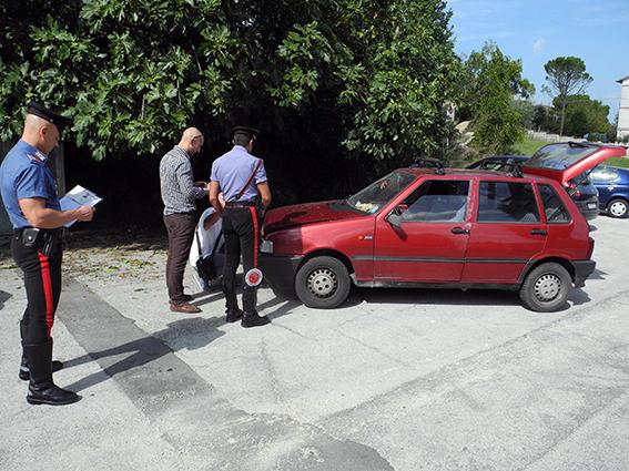 Auto Rubata per rapina Banca (3)