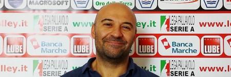 Il 2° allenatore della Lube Francesco Cadeddu