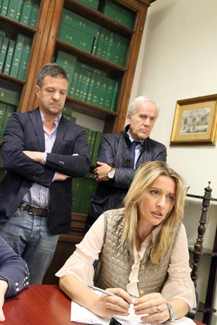 Francesca D'Alessandro e Fabrizio Nascimbeni di Macerata è nel cuore e Giorgio Ballesi
