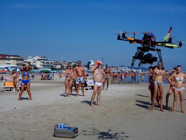 Drone in volo durante le riprese