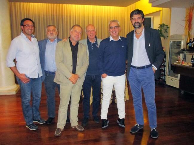 Da sinistra gli assessori Censori e Canesin, il presidente Ruffini, i sindaci Carancini  e Ceregioli