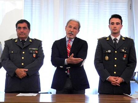Il colonnello Paolo Papetti, Gianni Corvatta e il tenente Salvatore Della Corte