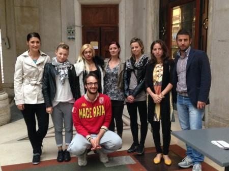 Marco Guzzini con lo staff del Di Gusto Italiano