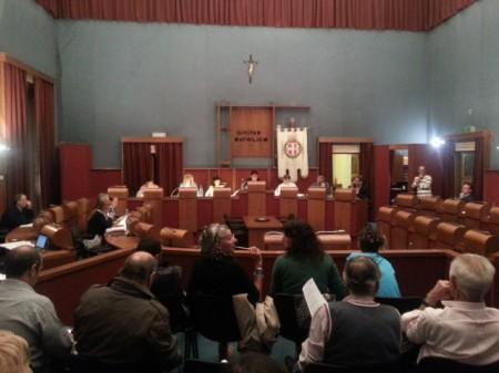 La seduta del consiglio comunale di Matelica