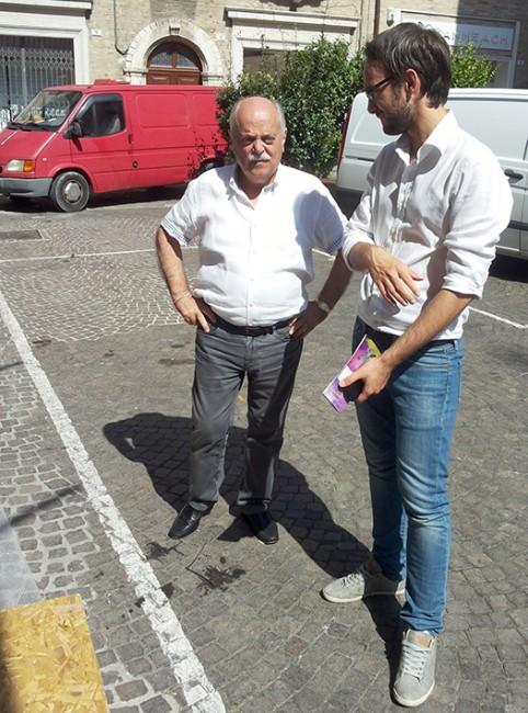 Il presidente della provincia Antonio Pettinari si informa sulle fasi dell'opera