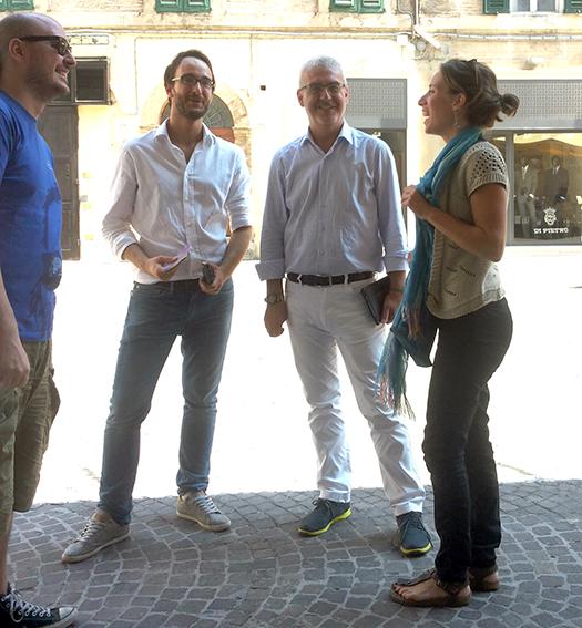 Marco Guzzini e il sindaco Romano Carancini