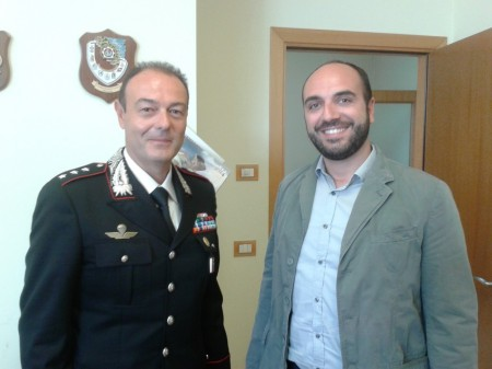 Il nuovo Comandante della Compagnia di Civitanova Enzo Marinelli assieme al dirigente del Commissariato di Civitanova Roberto Malvestuto