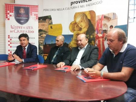 Giorgio Palombini, Domenico Maccari, Mario di Iorio e Flavio Corradini presentano la 28eisma fiera dell'elettronica