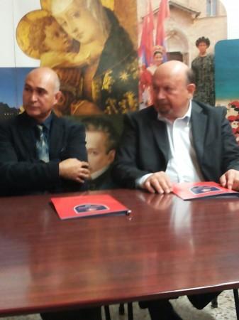Il vicepresidente di Cb Club Domenico Maccari e il responsabile tecncico della fiera Domenico Di Iorio