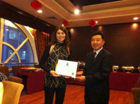 "Katiuscia Vaccarini premiata ""Best student paper award"" . Conferenza AIBUS Northeast Chapter /Special Meeting on China"