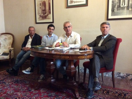 Da sinistra Giampaolo, Valentini, Carancini e Sparvoli