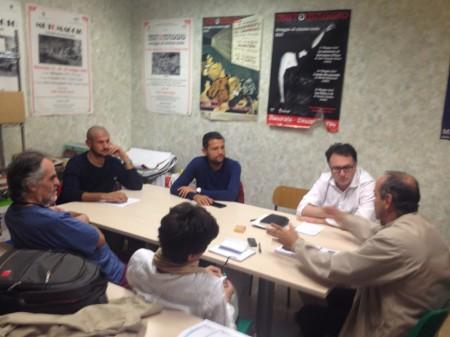 L'incontro degli esponenti di Pensare Macerata con i rappresentanti sindacali