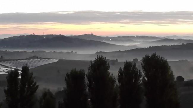 La vista su Macerata da Pollenza questa mattina (28 settembre)
