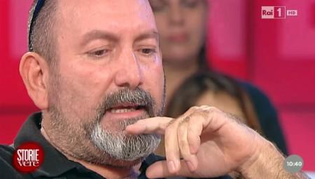Emilio Moretti durante la trasmissione Unomattina