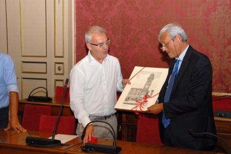 Il sindaco Romano Carancini e il presidente Bove