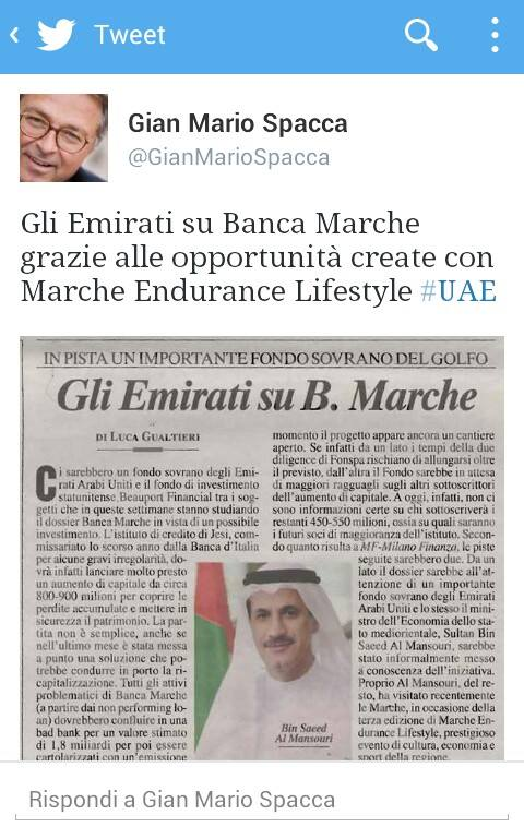 tweet spacca emirati banca marche