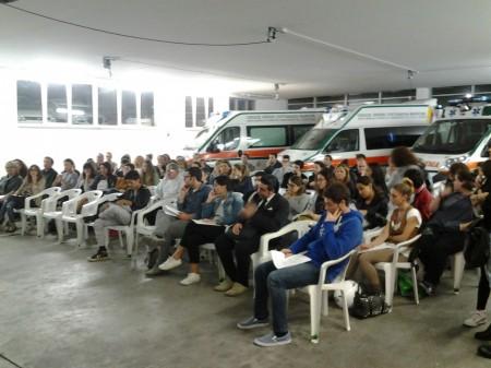 I partecipanti all'80esimo corso di primo soccorso