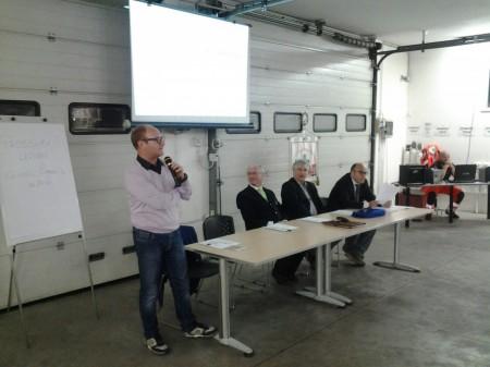 Yuri Rosati assessore ai servizi sociali assieme a Cesare Bartolucci presidente della Croce Verde con i formatori Riccardo Ricciuti e Ermanno Zamponi coordinatore centrale 118