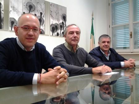 da sinistra Fabrizio Ciarapica, Giovanni Corallini e Claudio Morresi