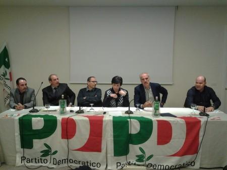 Il tavolo dei relatori al convegno sulla sicurezza organizzato dal Pd