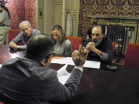 La Commissione durante l'ascolto al presidente del Gus Paolo Bernabucci
