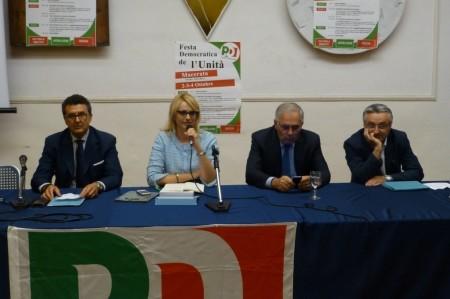 VERTICI PD - Da sinistra: Paolo Micozzi, Irene Manzi e Angelo Sciapichetti