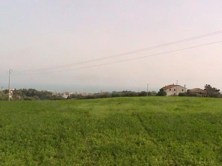 La vista che si gode sul Burchio, dall'area in cui sorge la villa romana del III secolo