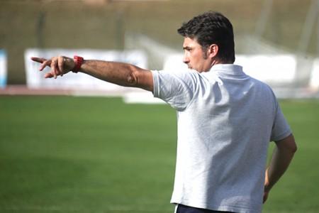 L'allenatore della Maceratese, Giuseppe Magi