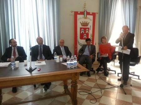 Il viceministro Nencini a Camerino con l'assessore Paola Giorgi e il presidente della Provincia Antonio Pettinari