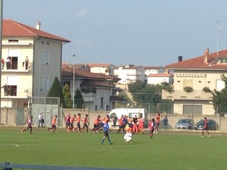 La Samb festeggia il gol del 3-2