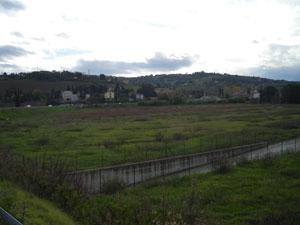 La zona dove sorgerà l'impianto