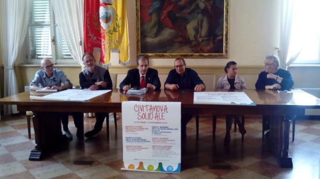 da sinistra Wladimiro Bonifazi, Ubaldo Sagripanti, Ivo Costamagna, Tommaso Corvatta, Moira Giusepponi e Enrico Lattanzi