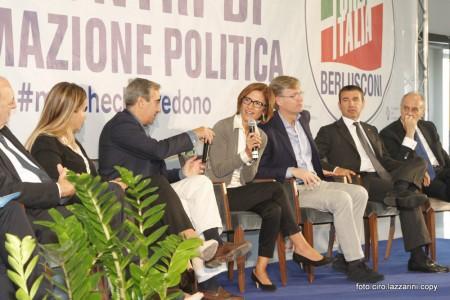 (da sinistra) Catia Polidori, Maurizio Gasparri, Maria Stella Gelmini, Marco Marin, Ignazio Abrignani