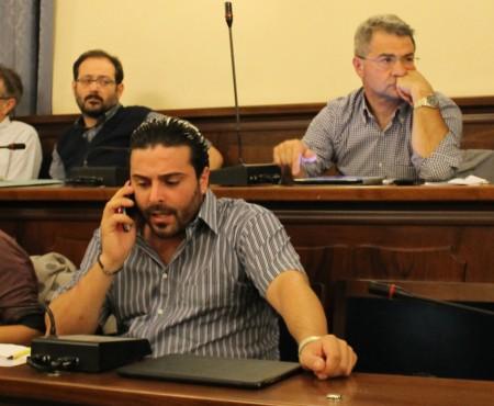 Il consigliere Livio de Vivo. Dopo il consiglio ha affidato a Facebook la sua volontà di dimettersi