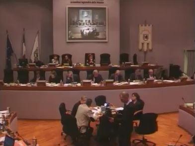 Un momento del Consiglio regionale di questa mattina