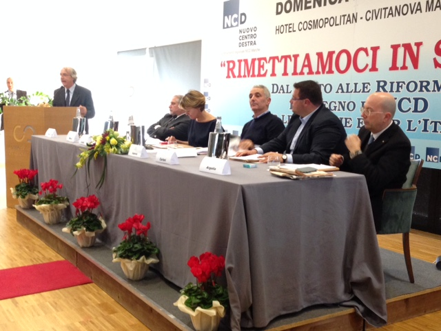 da sinistra: Massi,  D'Angelo, Lorenzin, Quagliariello, Carloni e Argalia
