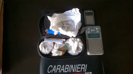 La droga sequestrata durante il controllo di ieri pomeriggio