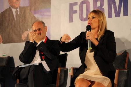 Remigio Ceroni e Alessandra Mussolini