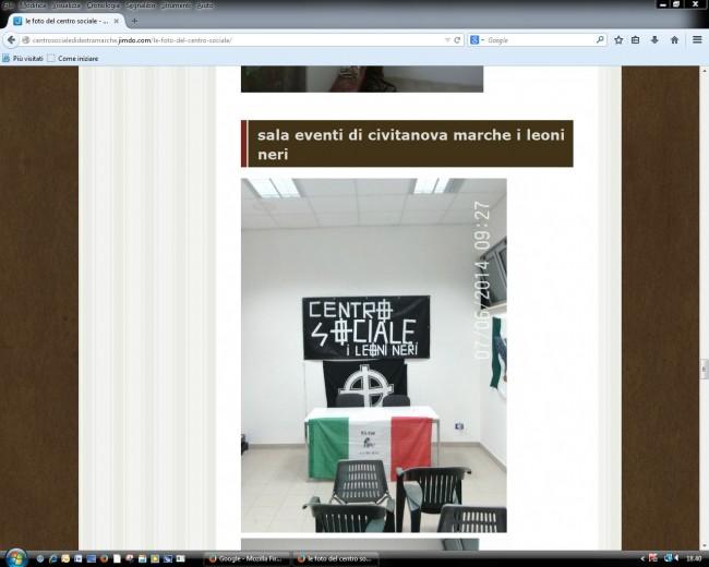 Ancora un'immagine dal sito dell'associazione di ultradestra