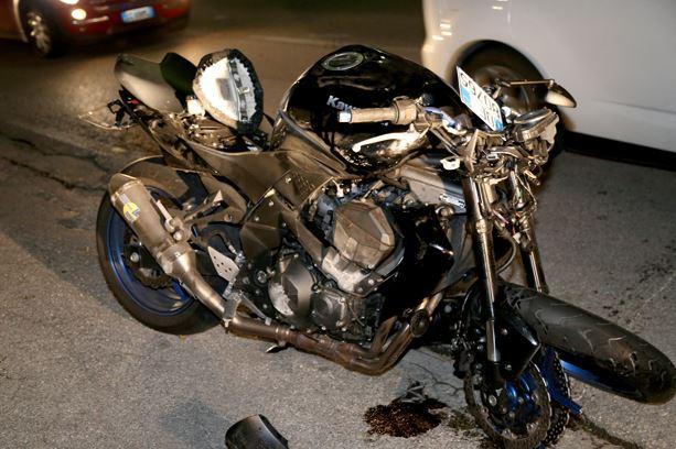 La moto incidentata